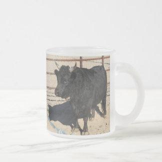 Little Black Bull Frosted Mug