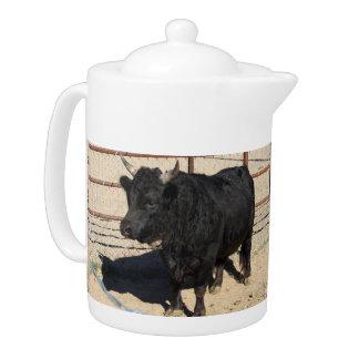 Little Black Bull Medium Tea Pot