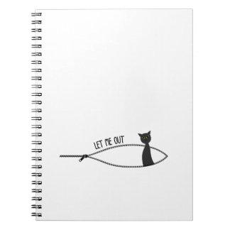 Little Black Cat Halloween Pregnancy Pregnant Notebook