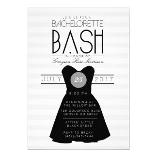 Little Black Dress Bachelorette Bash | Party Card