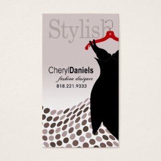 """Little Black Dress"" Fashion Designer, Stylist Business Card"