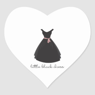 Little Black Dress Heart Sticker