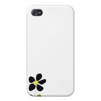 Little Black Flower iPhone 4 Case
