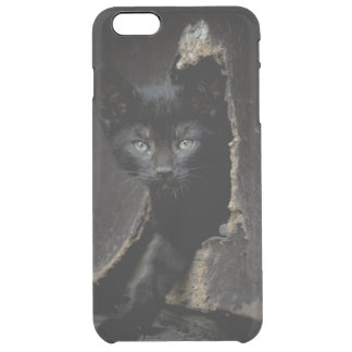 Little Black Kitty Clear iPhone 6 Plus Case