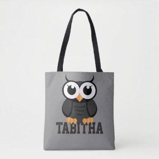 """Little Black Owl"" Tote Bag"
