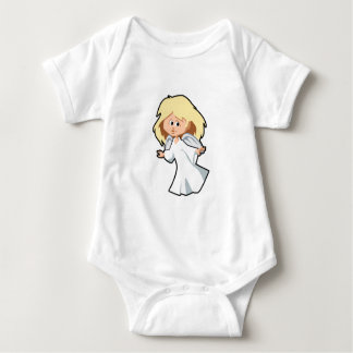 Little Blonde Angel Girl Baby Bodysuit