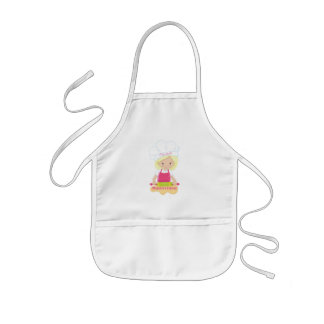 Little Blonde Girl Baker Kids Apron