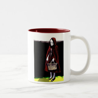 Little Blood Red Riding Hood Two-Tone Coffee Mug