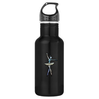 Little blue ballerina artwork 532 ml water bottle