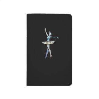 Little blue ballerina artwork journal