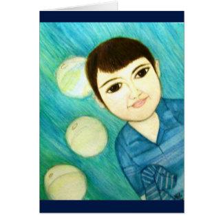 Little Blue Boy Card