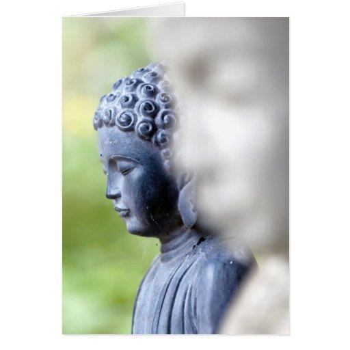 Little Blue Buddha Card
