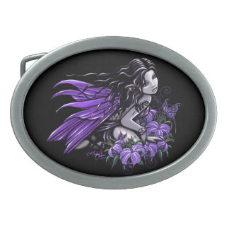 Little Blue Butterfly Flower Fairy Belt Buckle
