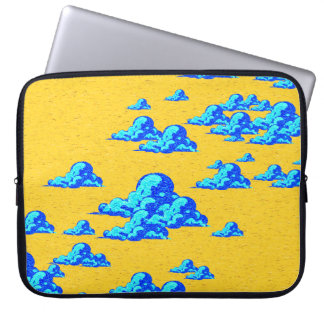 Little Blue Clouds Laptop Sleeves