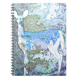 Little Blue Deer Note Book