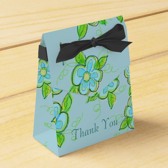 Little Blue Floral Favour Box Favor Boxes