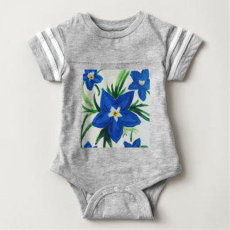 little blue flower collection baby bodysuit