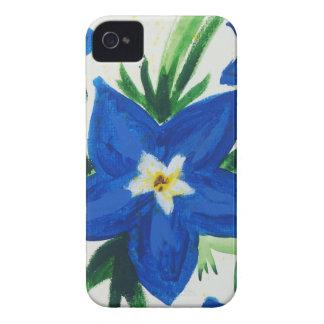 little blue flower collection Case-Mate iPhone 4 case