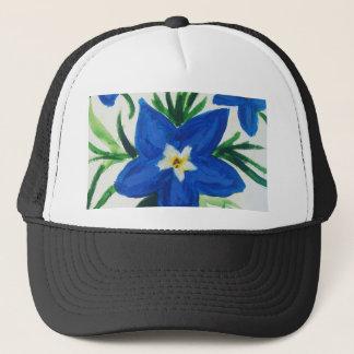 little blue flower collection trucker hat