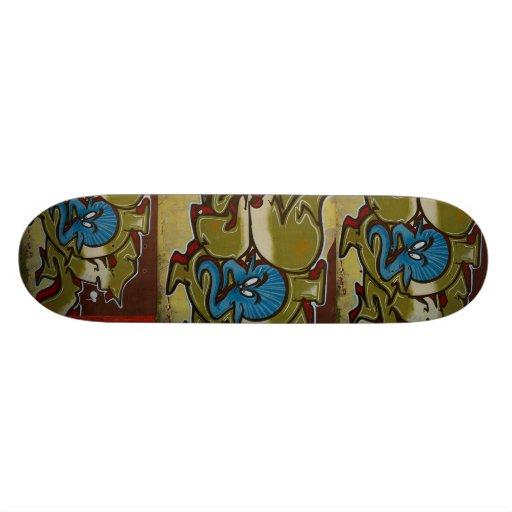Little blue ghost -  pattern graffiti Skateboard