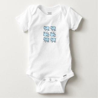 Little Blue Lamb Baby Onesie
