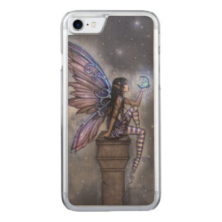Little Blue Moon Fairy Fantasy Art Carved iPhone 7 Case