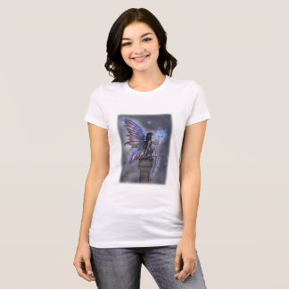 Little Blue Moon Magical Fairy Fantasy Art T-Shirt