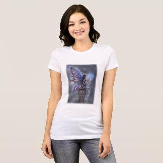 Little Blue Moon Magical Fairy Fantasy Art T-Shirt