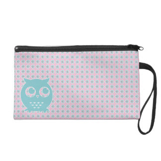 Little Blue Owl Wristlet
