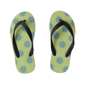 Little blue tumbleweeds kid's flip flops
