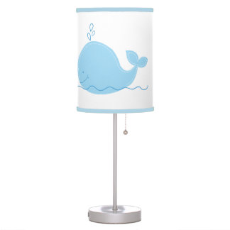 Little Blue Whale Nursery Lamp