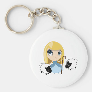 Little Bo Peep and her Sheep Keychain