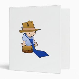 Little boy big tie & hat vinyl binder