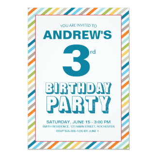 Little Boy Birthday Party Invitation