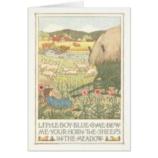 Little Boy Blue Coloring Card
