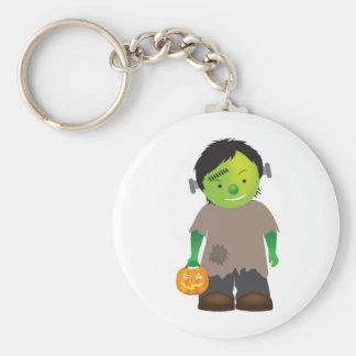 little boy frankenstein halloween monster basic round button keychain