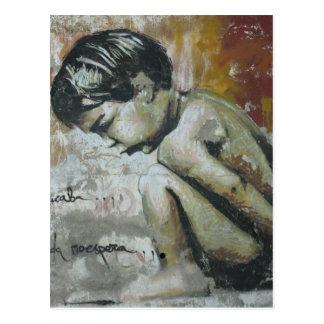 Little Boy Graffiti Postcard