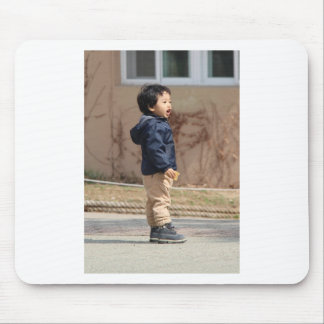 Little boy mouse pad