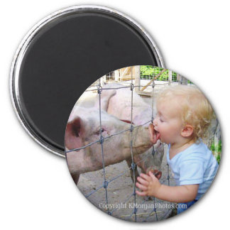 Little Boy & Pig Magnet