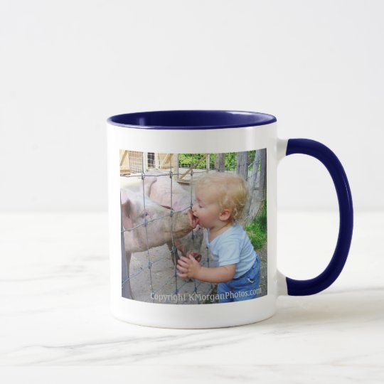 Little Boy & Pig Mug