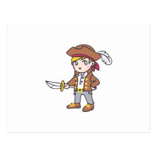 LITTLE BOY PIRATE POSTCARD