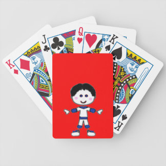 Little Boy Stick Family Collection Bicycle Playing Cards
