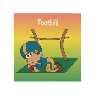 Little Boy Touchdown Wood Print