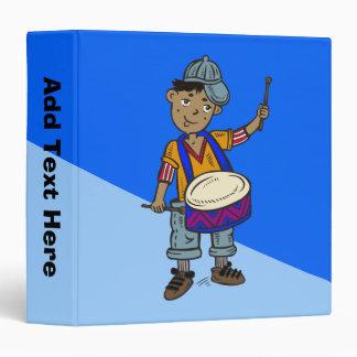 Little Boy With Drums Vinyl Binder