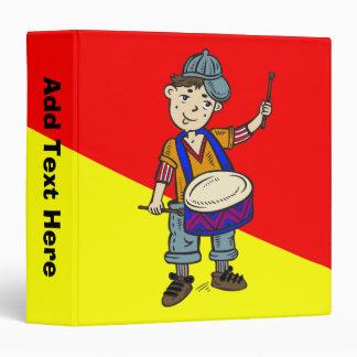 Little Boy With Drums Binder