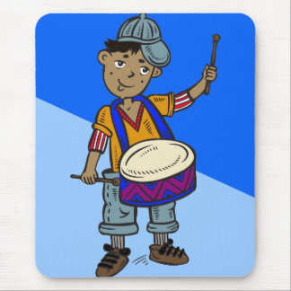 Little Boy With Drums Mouse Pad
