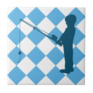 Little Boys Gone Fishing Tile