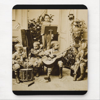 Little Boys Orchestra - Vintage Stereoview Mouse Pad