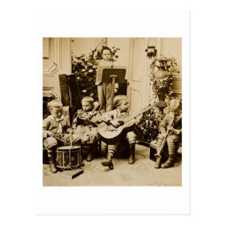 Little Boys Orchestra - Vintage Stereoview Postcard