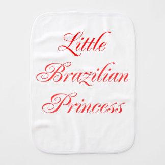 Little Brazilian Princess Burp Cloth